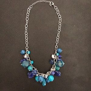Jewelry - Necklace- funky & chunky Various shades blue/green